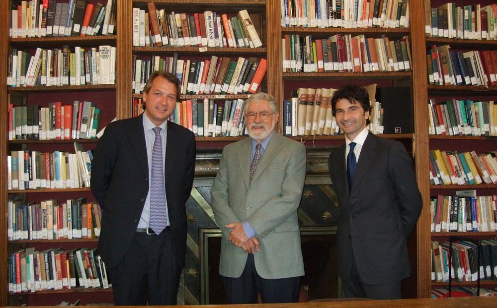 da sinistra l'Avv. Massimo Trentino, il Prof. Peter C. Alegi e l'Avv. Antonio Bernardini